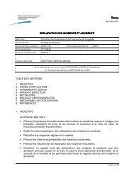 Règle sur la déclaration des incidents et des accidents - Csss-iugs.ca