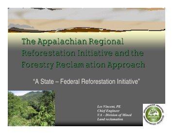 The Appalachian Regional Reforestation Initiative and the ... - ARRI