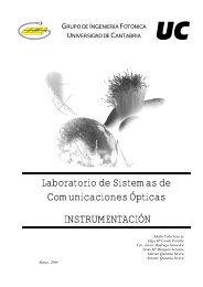 Laboratorio de Sistemas de Comunicaciones Ópticas ...