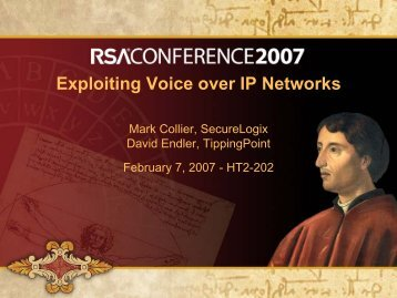 Exploiting Voice over IP Networks - Hacking Exposed VoIP