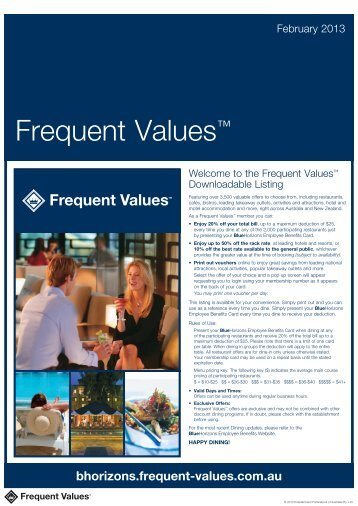Frequent Values™ - Blue Horizons - Frequent Values