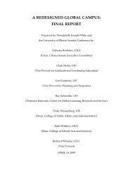 A REDESIGNED GLOBAL CAMPUS: FINAL REPORT - Senate