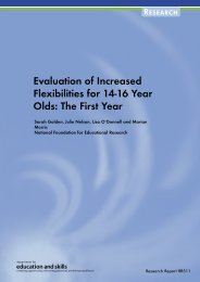 Evaluation of Increased Flexibilities for 14-16 Year Olds: The First Year