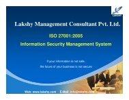 ISO 27001 awareness presentation - Lakshy