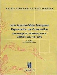 Latin American Maize Germplasm Regeneration and ... - cimmyt