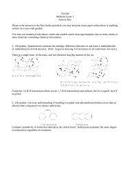 Answer Key to Midterm Exam #1