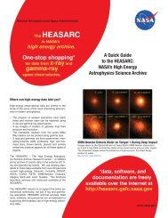 high energy archive. One-stop shopping - HEASARC - NASA