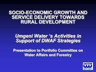 Umgeni Water Board Powerpoint Presentation
