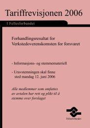 Tariffrevisjonen 2006 - Fellesforbundet