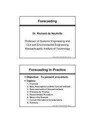 Forecasting Forecasting In Practice - Richard de Neufville