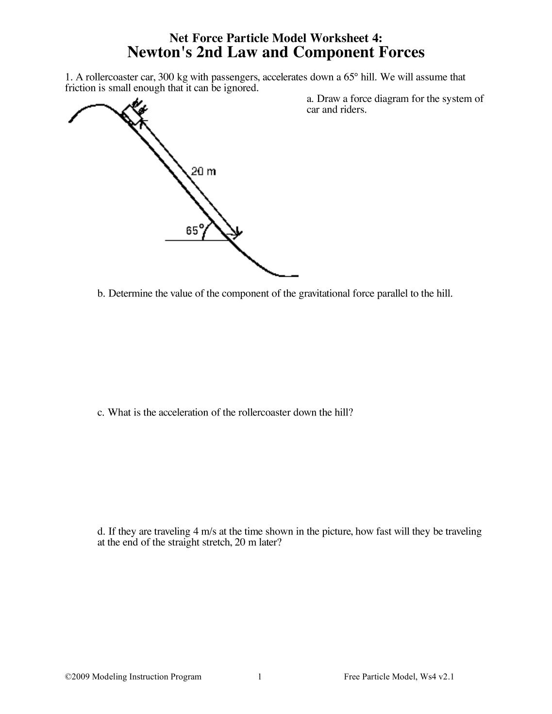 Free Particle Model Worksheet 1a Force Diagrams - Livinghealthybulletin