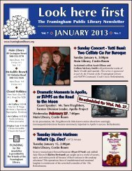 January 2013 - Framingham Public Library