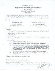 Acta No. 24 - Cuenta del Milenio - Honduras
