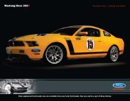 Mustang Boss 302R - Ford Racing Parts