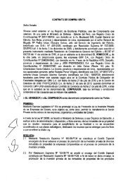 CONTRATO DE COMPRA VENTA Señor Notario: - Proinversión