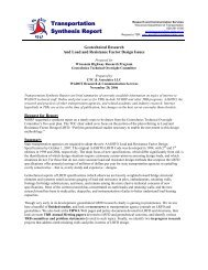 Geotechnical Research and Load and Resistance Factor Design ...