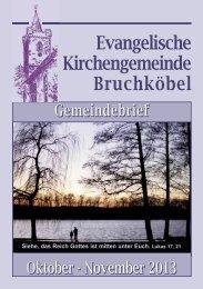 Gemeindebrief Oktober - November 2013 - Evangelische Kirche ...