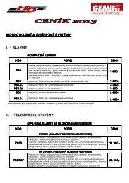 Ceník GEMINI 2013_platný od 1/06/2013 - HD Com