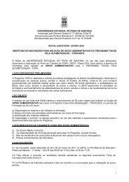 Edital Apoio Administrativo 2011 - Universidade Estadual de Feira ...