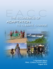 Economics of Adaptation to Climate Change - World Bank Internet ...