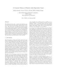 A Nominal Theory of Objects with Dependent Types - Matthias Zenger