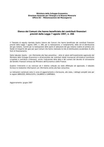Elenco completo in formato pdf - Unmig - Ministero dello Sviluppo ...