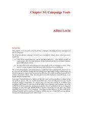 Chapter 14: Campaign Tools Adina Levin