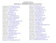 See Attachment for Names and E-mail Addresses.