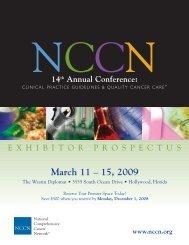 March 11 – 15, 2009 - National Comprehensive Cancer Network