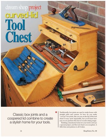 Curved-Lid Tool Chest, Pt. 1 - Woodsmith Woodworking Seminars