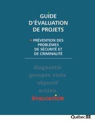 Guide d'évaluation de projets - Ministère de la Sécurité publique