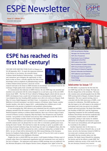 ESPE Newsletter - 17 - Asia Pacific Paediatric Endocrine Society