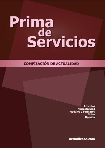 Prima de Servicios - Actualicese