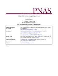 Interpreting the universal phylogenetic tree Carl R. Woese doi ...
