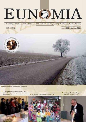 Eunomia 2008/01 - Państwowa Wyższa Szkoła Zawodowa w ...