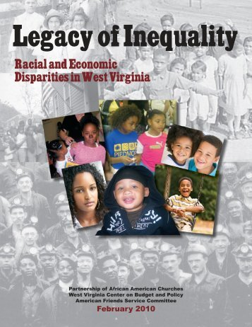 Legacy of Inequality - West Virginia Center on Budget & Policy