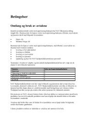 Betingelser i avtalen for stoler med oppreisningsfunksjon