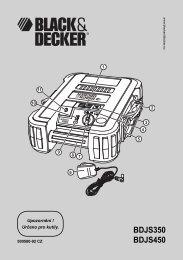 BDJS350 BDJS450 - Servis - Black & Decker