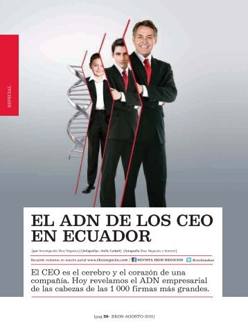 El ADN de los CEO en Ecuador / introducción - Ekos Negocios