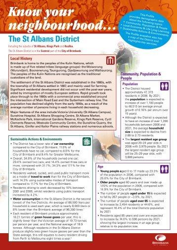 St Albans District - Brimbank City Council