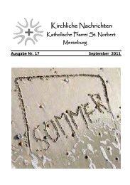 Ausgabe Nr. 17, September 2011 ( PDF -Datei, 219 kB)