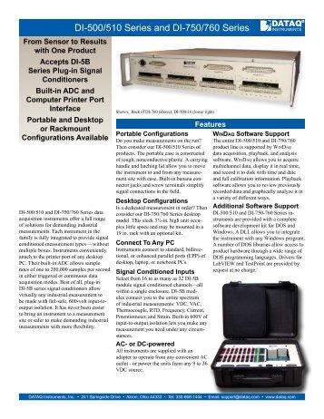 Datasheet - DATAQ Instruments