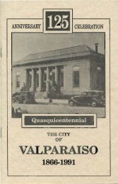 The City of Valparaiso, Quasquicentennial - Porter County, Indiana