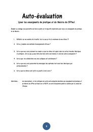 Formulaire d'auto-évalutation pour les enseignants de ... - Ge.ch