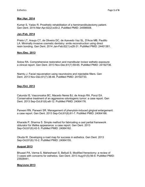 Esthetics Page 1 of 5 Jan./Feb. 2012 Kumar R, Patil S. Forced ...