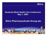 Q1 2003 - Shire