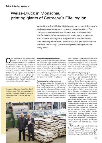 Weiss-Druck in Monschau: printing giants of Germany's Eifel region
