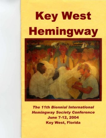 2004 Key West Hemingway - Hemingway Society