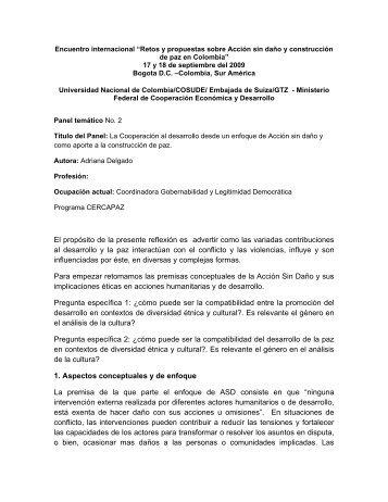 """encuentro internacional """"retos y propuestas sobre accion ... - Bivipas"""