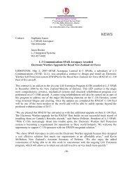 (5-02-07) L-3 Communications SPAR Aerospace Awarded ...